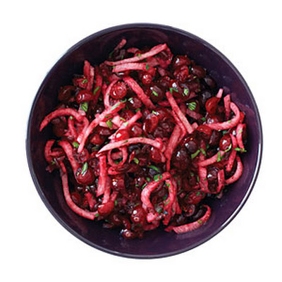 Cranberry, Jicama, and Cilantro Salsa