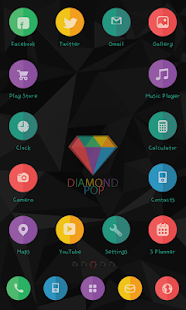 Diamond Pop icon Theme - screenshot