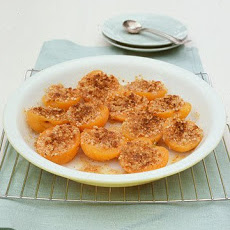 Baked Apricots with Almond Topping
