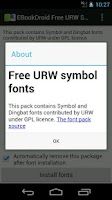 Screenshot of EBookDroid URW Symbol FontPack