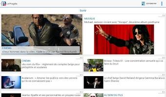 Screenshot of Le Progrès