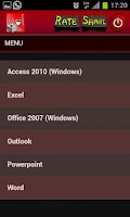 Screenshot of Word Excel MS Office Shortcuts