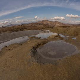 Muddy Volcanoes by Ariseanu Genu - Landscapes Prairies, Meadows & Fields