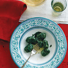 Spinach and Ricotta Gnudi with Sage Butter