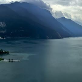 Lago di Garda by John  Truckenbrodt - Landscapes Travel ( torbole, hdr, sunset, garda lake, italy, alps )