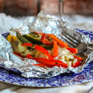 Foil-Baked Fish with Summer Veggies