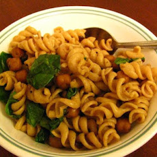 Fusilli with Garbanzo Beans