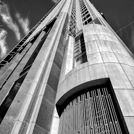 Skyscaper 1 by Tom Shope - Buildings & Architecture Office Buildings & Hotels ( leading lines, building, sky, skyscraper, tall,  )