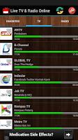 Screenshot of TV Indonesia Live