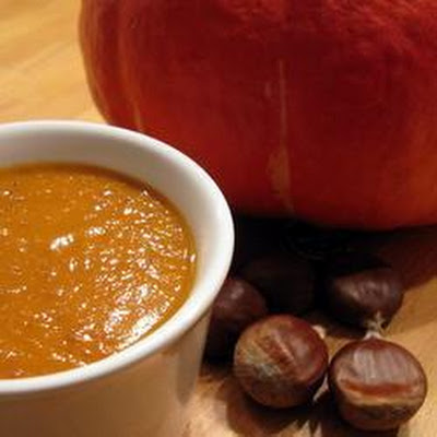 Fresh Roasted Chestnut And Pumkin Soup
