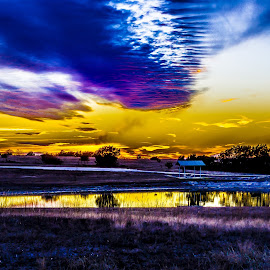 Embers In The Horizon by Robert Marquis - Landscapes Sunsets & Sunrises ( outdoor scenes, nature, sunsets, sunset, texas, landscapes, landscape )