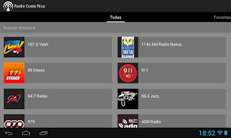 Screenshot of Radio Costa Rica