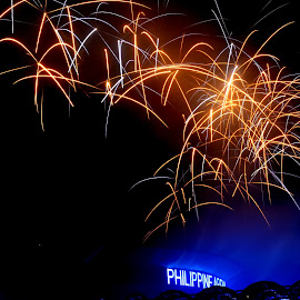 INC Centennial Fireworks by Felix Uy - Abstract Fire & Fireworks ( iglesia ni cristo, philippine arena, night scene, fireworks, philippines )