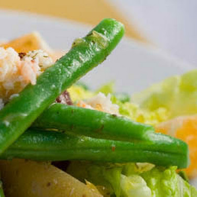 Rand's Crab and Tangerine Nicoise with Lemon Vinaigrette