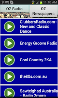 Screenshot of OZ Radio and Newspapers