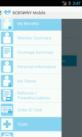 Screenshot of BCBSWNY Mobile
