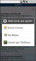 Screenshot of Aula Mentor