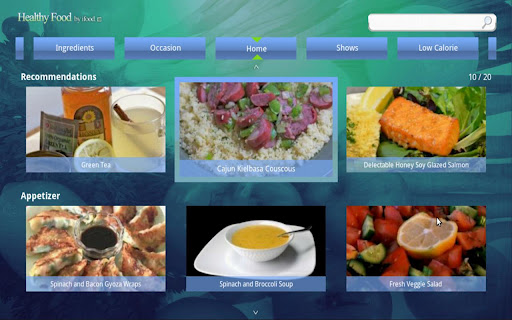 Healthy food for Google TV