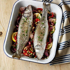 Italian Baked Sea Bass
