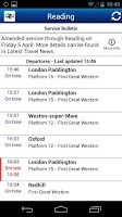 Screenshot of Train Times