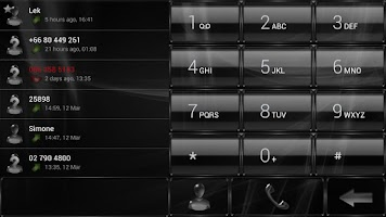 Screenshot of exDIaler GlassMetalFrameBlack