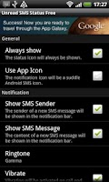 Screenshot of Unread SMS Status Free