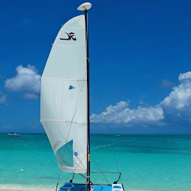 Turks and Caicos boat by Michele Williams - Landscapes Beaches