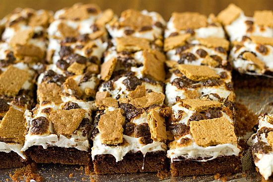 ... to throw s mores brownies s mores brownies even though we re inching