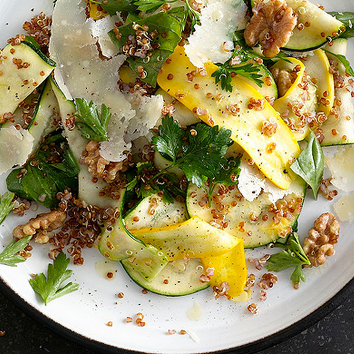 Summer Squash and Red Quinoa Salad with Walnuts Recipe | Yummly