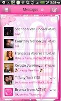 Screenshot of GO SMS THEME|LovelyHeart