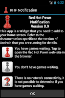 Screenshot of Red Hot Pawn Notification Widg