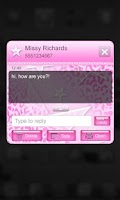 Screenshot of Pink Leopard Go SMS Star Theme
