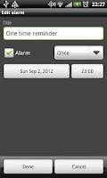 Screenshot of AlarmMe