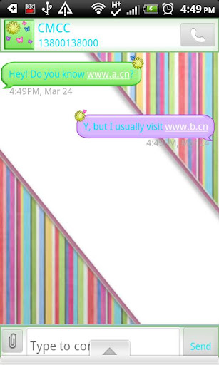 GO SMS THEME SpringColors1