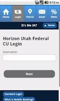 Screenshot of HorizonCU