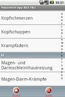 Screenshot of BKK VBU Hausmittel App