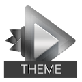 Chrome Theme - Rocket Player APK for Bluestacks