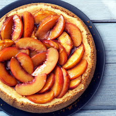 Bourbon-Roasted Peach Cheesecake