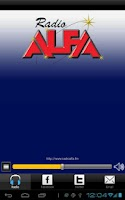 Screenshot of Radio Alfa