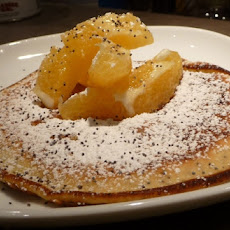 Orange Pancakes with Poppy Seeds