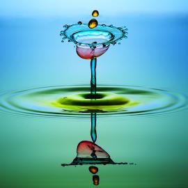 two by Muhammad Berkati - Abstract Water Drops & Splashes ( macro, splash, still life, abstarct, waterdrops )