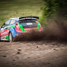 Speed on a gravel road by Marcin Frąckiewicz - Sports & Fitness Motorsports ( rally, wrc, motorsport )