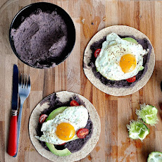 The Breakfast Taco with Black Bean Spread