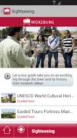 Screenshot of Würzburg - mobile travel guide