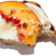 Peach and Hazelnut Mascarpone Bruschetta Recipe