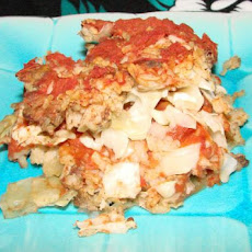 Super Easy Lazy Stuffed Cabbage Casserole