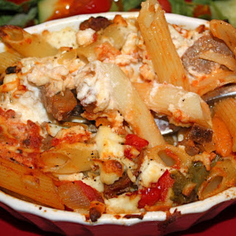 Baked Penne Pasta with Italian Sausage