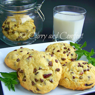 My Kid's Triple Delight - Chocolate, Coconut and Cranberry Cookies