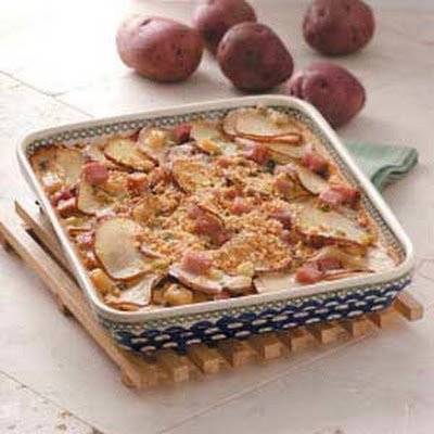 Saucy Potatoes with Ham Recipe