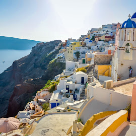 Oia 2 by Murat Besbudak - Landscapes Travel ( aegean sea, greece, oia, santorini )